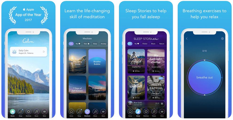Calm meditatie app